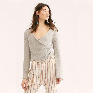 NWT Free People Sensual Wrap Sweater